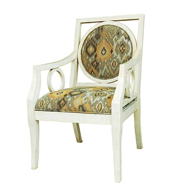 Crestview Collection Lisbon Antique Pattern Arm Chair