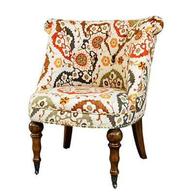 Crestview Collection Hutchison Pattern Fabric Side Chair