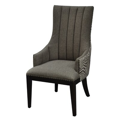 Crestview Collection Safari Two Toned Channel Back Arm Chair