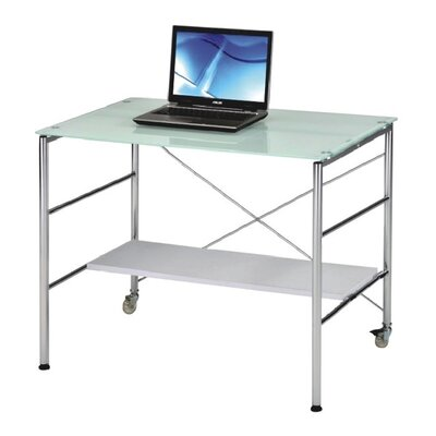 New Spec Inc Computer Desk with Adjustable Shelf