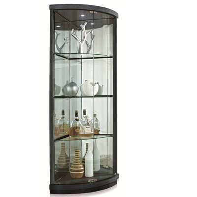 New Spec Inc Corner Curio Cabinet