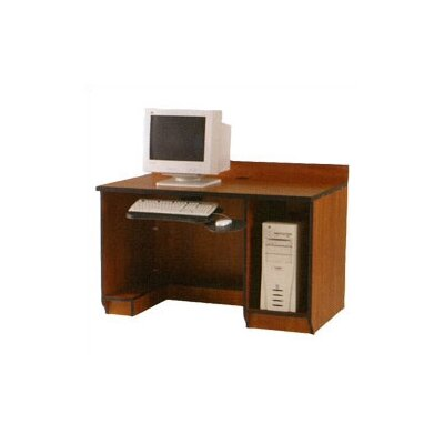 Fleetwood Illusions Student Computer Workstation with Keyboard and CPU Storage