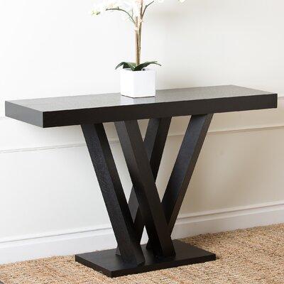 Abbyson Living Kinlin Espresso Wood Sofa Table