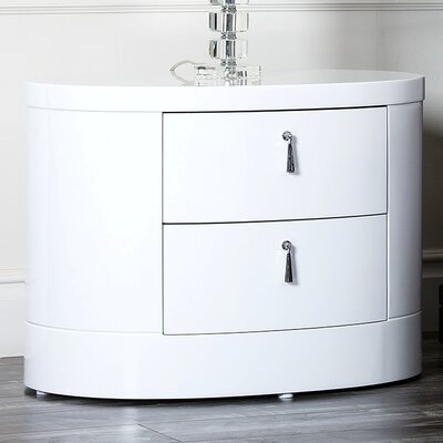 Abbyson Living Jengo 2 Drawer Nightstand