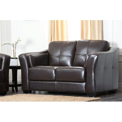 Abbyson Living Sydney Premium Leather Loveseat