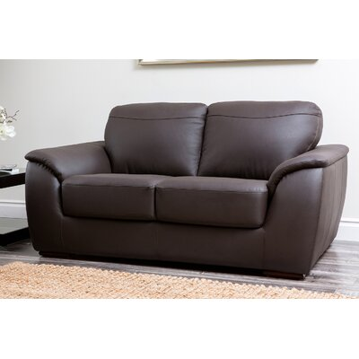 Abbyson Living Ashton Leather Loveseat
