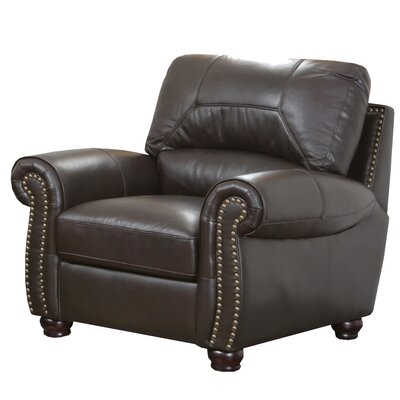 Abbyson Living Broadway Italian Leather Chair