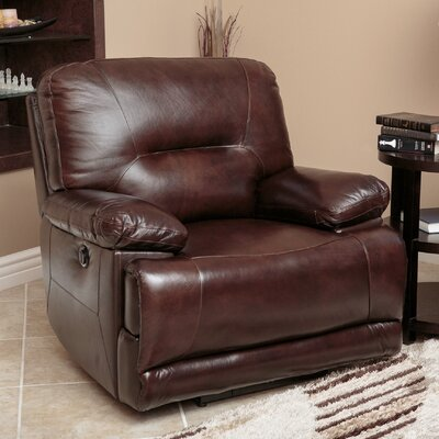 Abbyson Living Brownstone Leather Power Recliner