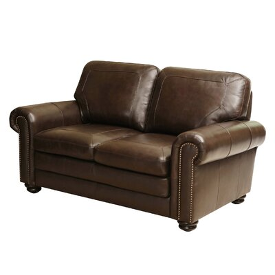 Darby Home Co Bolling Leather Loveseat