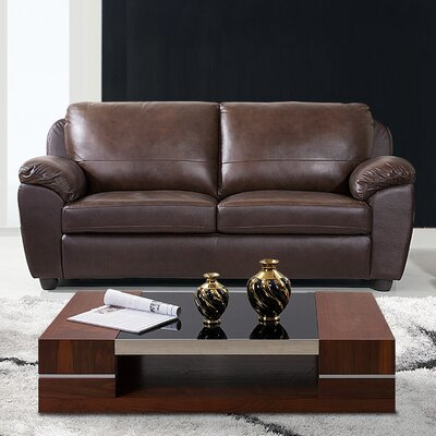 Andover Mills Ashley Leather Loveseat
