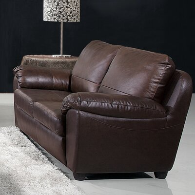 Andover Mills Lakewood Leather Loveseat