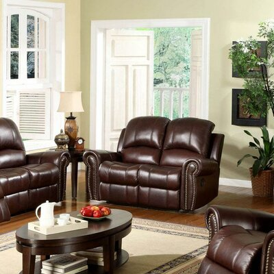 Abbyson Living Sedona Leather Reclining Loveseat