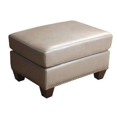 Darby Home Co Carthage Leather Ottoman