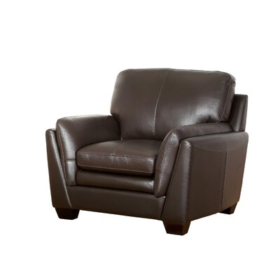 Darby Home Co Whitstran Top Grain Leather Armchair