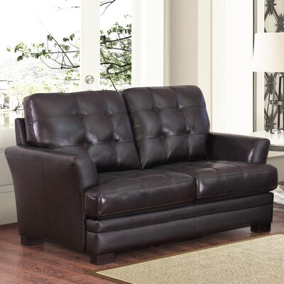 Darby Home Co Schilling Leather Loveseat