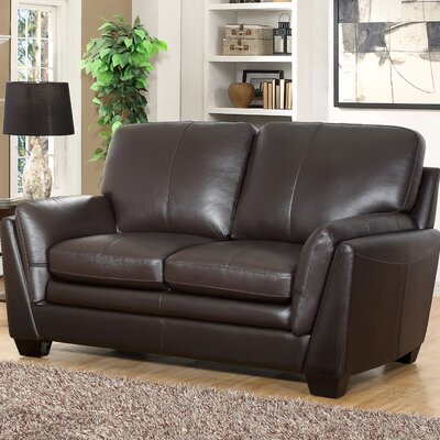 Darby Home Co Whitstran Leather Loveseat