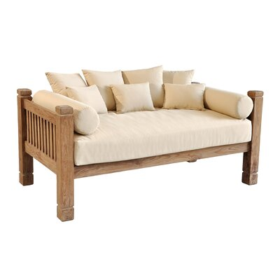 Casual Elements Tahoe Reclaimed Teak Day Bed with Cushions