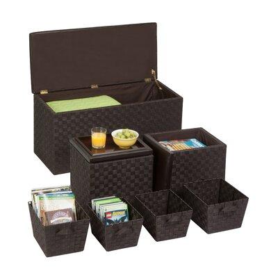 Honey Can Do 7-Piece Storage Ottoman & Basket Set