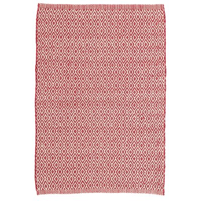 Dash and Albert Rugs Crystal Red White Indoor Outdoor Area