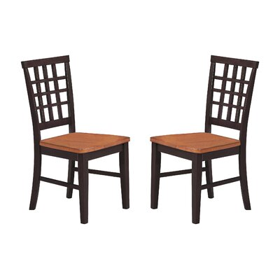 Imagio Home by Intercon Arlington Lattice Back Side Chair (Set of 2)
