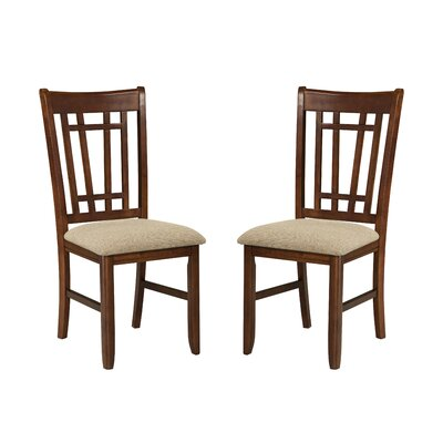 Imagio Home by Intercon Mission Casual Lattice Back Side Chair (Set of 2)