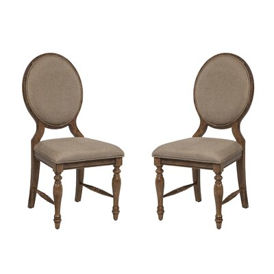 Imagio Home by Intercon Rhone Cameo Back Side Chair (Set of 2)
