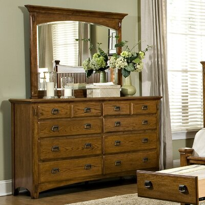 Imagio Home by Intercon Pasilla 8 Drawer Dresser with Mirror