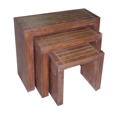 Cheungs 3 Piece Rectangular Nesting Tables