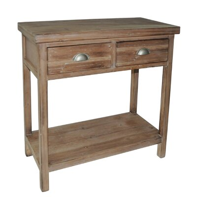 Cheungs 2 Drawer Wood Hallway Table with 1 Lower Shelf