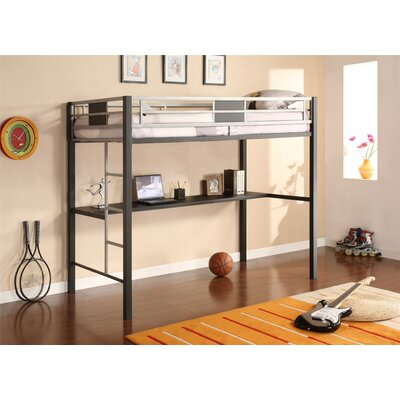 DHP Silver Screen Twin Loft Bed