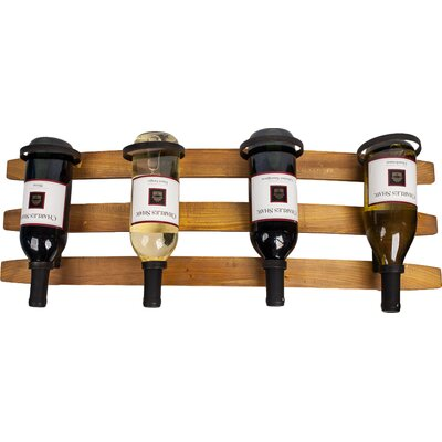 Loon Peak Copano 4 Bottle Wall Mounted Wine Rack