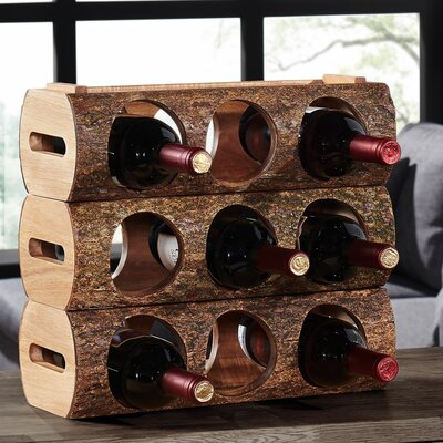 Loon Peak Hood River 3 Bottle Tabletop Wine Rack