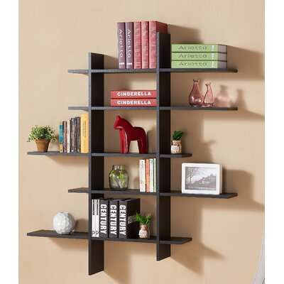 Latitude run 5 shelf asymetric wall shelf reviews wayfair for Kitchen set kayu jati belanda