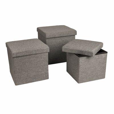 Zipcode™ Design Marco 3 Piece Folding Storage Ottoman Set