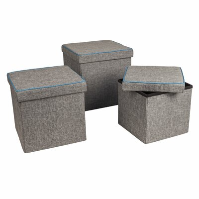 Zipcode™ Design Marco 3 Piece Folding Storage Ottoman Set