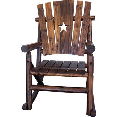 LeighCountry Char-Log Star Single Rocking Chair I & Reviews  Wayfair