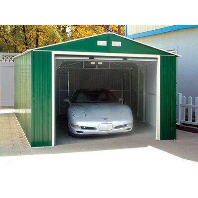 Duramax imperial 12 ft w x 20 ft d metal garage shed for 12 foot garage doors for sale