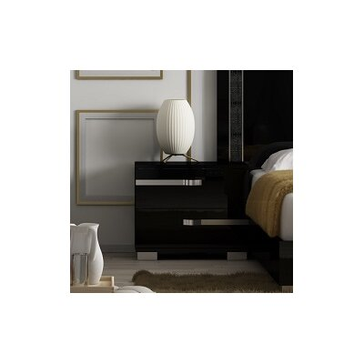 Star International Lustro 2 Drawer Nightstand