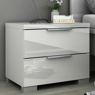 Wade Logan Clayton 2 Drawer Nightstand