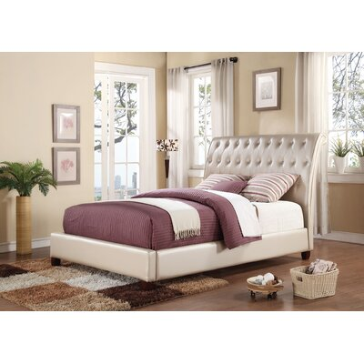 ACME Furniture Pitney Upholstery Sleigh Bed