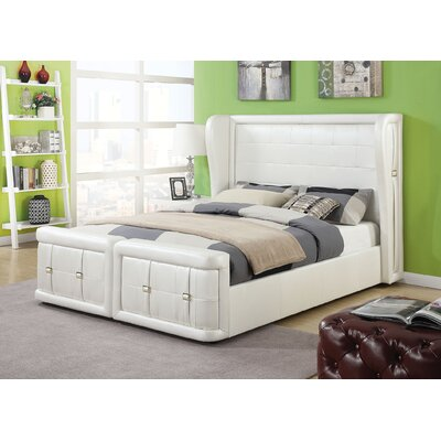 ACME Furniture Linus Upholstery Panel Bed