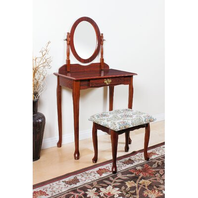 ACME Furniture Queen Anne Vanity Set with Mirror