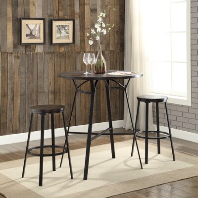 ACME Furniture Dora 3 Piece Pub Table Set