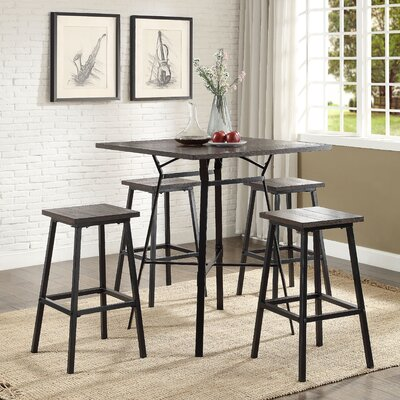 ACME Furniture Dora 5 Piece Pub Table Set