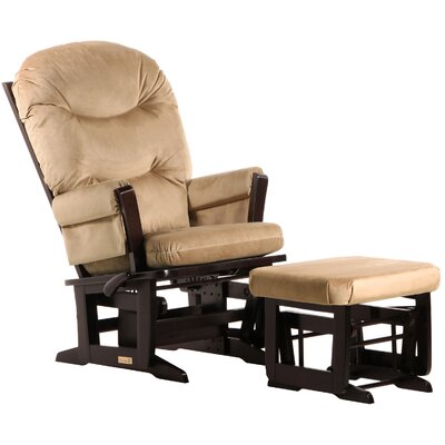 Dutailier Ultramotion Multi-Position Recline Modern Glider with Plush Cushion and Ottoman
