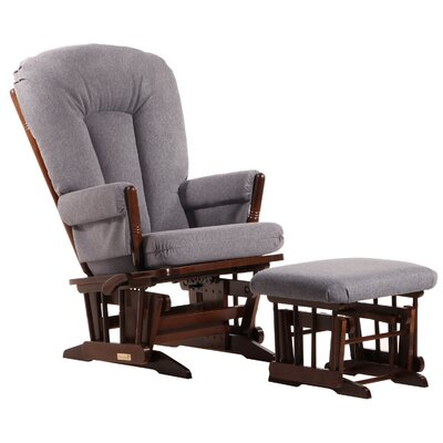 Dutailier Ultramotion Multi-Position Reclining Two Post  with Deluxe Cushion Glider and Ottoman