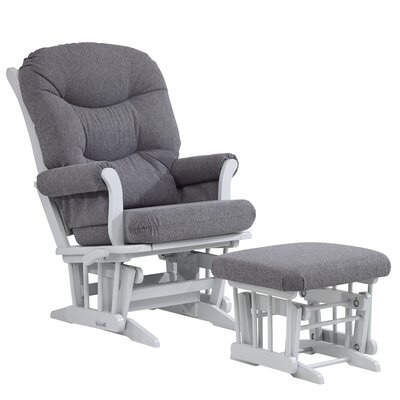 Dutailier Ultramotion Multi-Position Recline Sleigh Glider with Plush Cushion and Ottoman