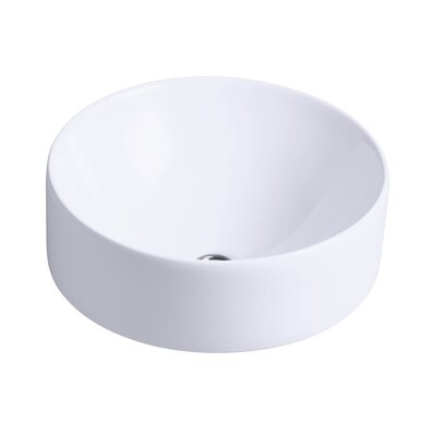 Kohler vox roundvessel round above counter bathroom sink for Kohler round bathroom sinks