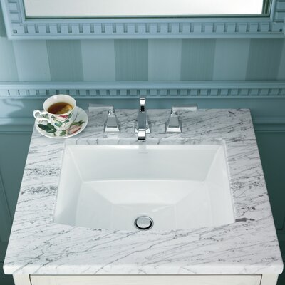 kohler archer rectangular undermount bathroom sink & reviews | wayfair