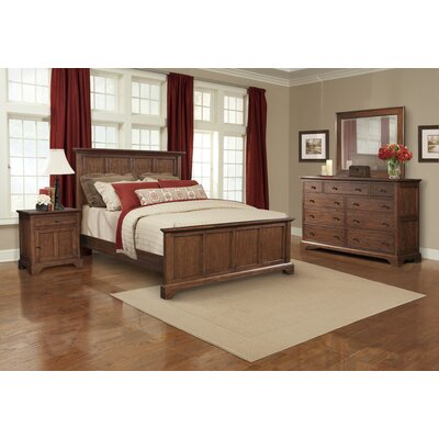 Cresent Furniture Retreat Cherry Queen Panel Customizable Bedroom Set